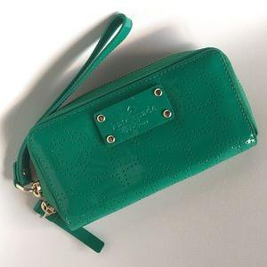 Kate Spade Jazzy Patent Green Wristlet
